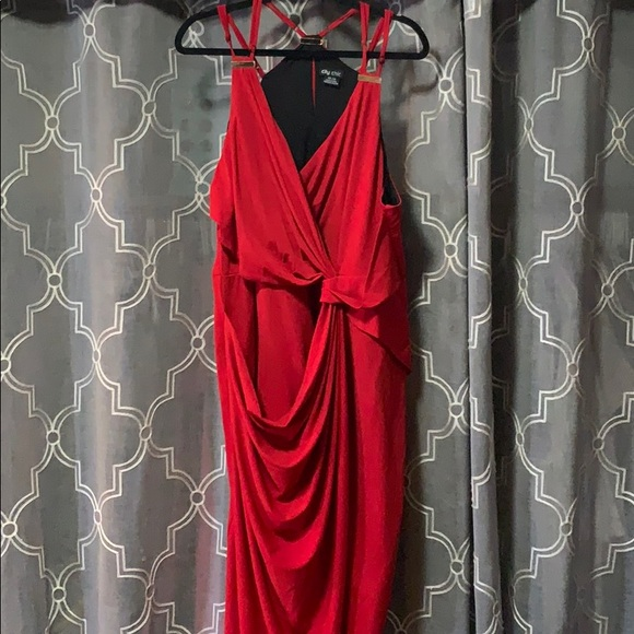 City Chic Dresses & Skirts - City Chic Wrap Dress Plus Size in Red